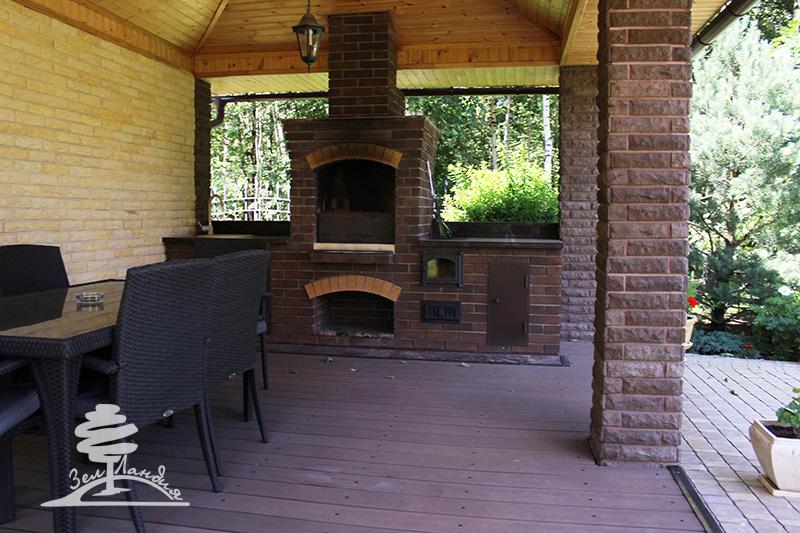 Барбекю для сада барбекю с печью из кирпича чертежи и фотографии