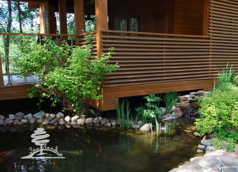 фото домов с зеленой металлочерепицей