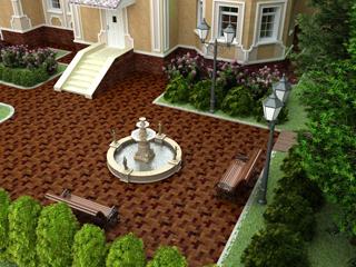Проект ландшафтного дизайна участка в 3-d виде